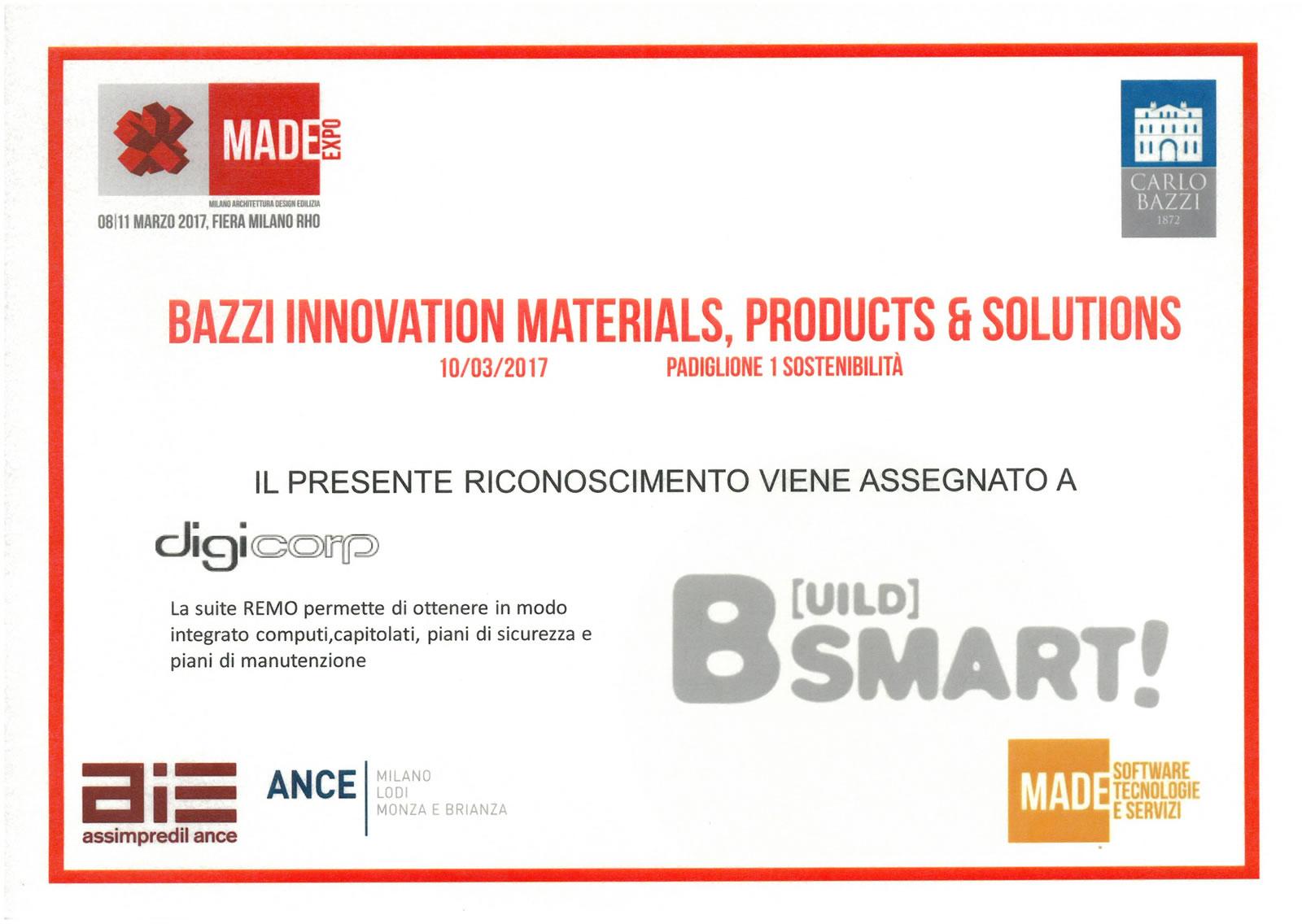 Primo premio BIM innovativo 2017