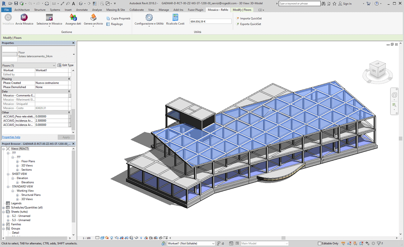 Software BIM - integrazione MOSAICO e Revit Autodesk